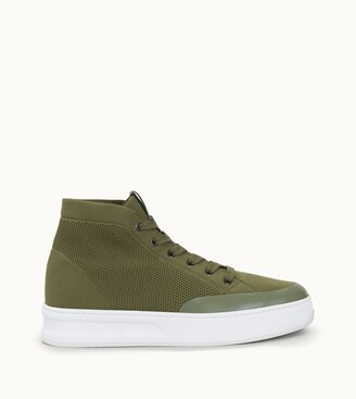 Tod's Hi-Top Sneakers in High Tech Fabric and Leather