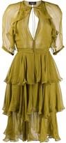 DSQUARED2 Ruffle Tiered Short Dress
