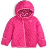 The North Face 'Perrito' Reversible Water Repellent Hooded Jacket (Baby Girls)