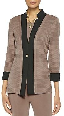 Misook Textured Single-Button Blazer