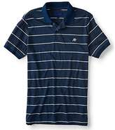 Aeropostale Men's A87 Logo Striped Rugby Polo Shirt