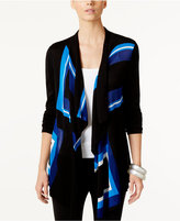 INC International Concepts Petite Draped Colorblocked Cardigan, Only at Macy's