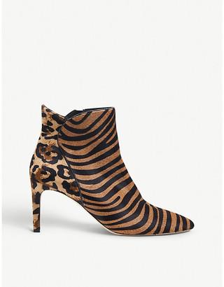 LK Bennett Maja animal-print calf hair ankle boots