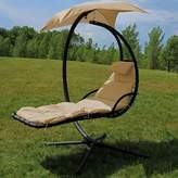 Freeport Park Macie Hanging Chaise Lounger with Canopy Umbrella