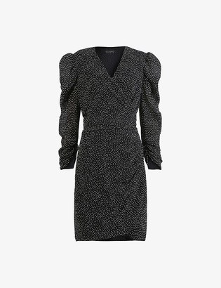AllSaints Lucia polka-dot mini dress