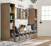 Pottery Barn Samantha 4-Piece Bench & Bookcase Entryway Set, Seadrift