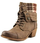 Roxy Robbie Women Round Toe Leather Brown Bootie.
