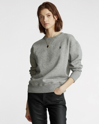 Polo Ralph Lauren Women's Grey Sweats - Long Sleeve Pullover Knit - Exclusives - Size XS at The Iconic