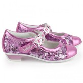 Lelli Kelly Kids Pink and silver sequin mary-janes