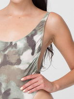 American Apparel Camouflage Print High Cut One-Piece