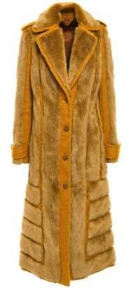 Acne Studios Faux Fur And Jute-blend Boucle Coat