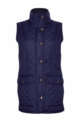 Champion Country Clothing Womens Dorney Quilted Gilet - Navy - 12
