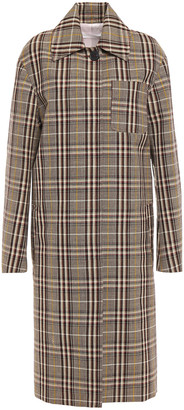 Victoria Beckham Checked Wool-jacquard Coat