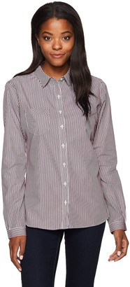 Cutter & Buck Women's Epic Easy Care Long Sleeve Mini Bengal Collared Shirt