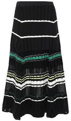 Proenza Schouler Striped Fil Coupe Knitted Midi Skirt