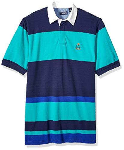 Chaps Mens Big and Tall Classic Fit Fashion Cotton Mesh Polo Shirt ...
