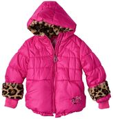 ZeroXposur Toddler Girl Heavyweight Faux-Fur Animal Print Detailed Coat