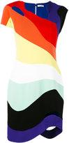 Thierry Mugler rainbow cut-out dress - women - Polyester/Acetate - 36