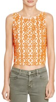 Alice + Olivia Pire Beaded Top