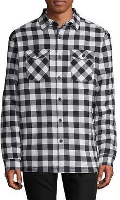 Russell Park Faux Fur-Lined Cotton Flannel Shirt Jacket