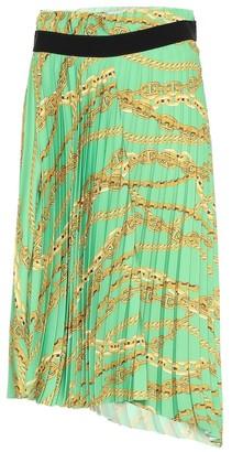 Balenciaga Printed asymmetric pleated skirt