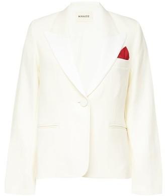 KHAITE Brita Pocket-square Single-breasted Twill Blazer - Ivory