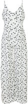 Fleur Du Mal Bias star print jumpsuit - women - Silk - L
