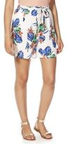 F&F Tropical Floral Print Flippy Shorts, Women's