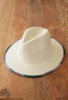 Forever 21 Baja-Trimmed Straw Fedora