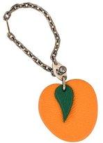 Hermes Peach Keychain
