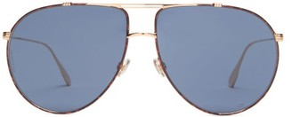 Christian Dior Diormonsieur1 Aviator Metal Sunglasses - Gold