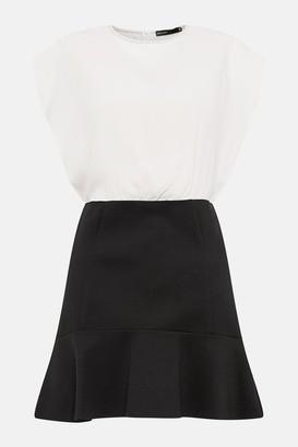Tailored Flip Hem Stretch Dress