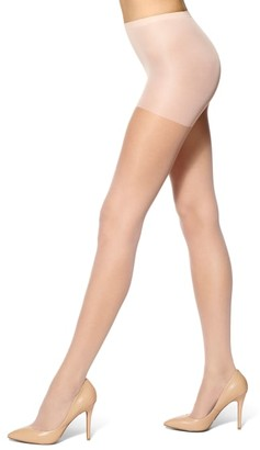 Hue Run Resistance Sheer Control Top Pantyhose