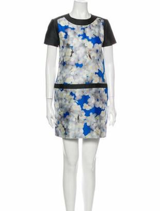 Victoria Victoria Beckham Floral Print Mini Dress Blue