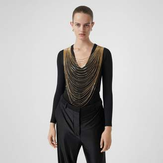 Burberry Chain Detai Stretch Jersey Bodysuit