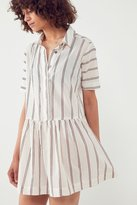 BDG Kennedy Striped Drop-Waist Mini Dress