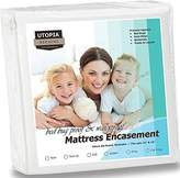 Utopia Bedding Waterproof Zippered Mattress Encasement Cover - Bed Bug Proof, Vinyl Safe and Hypoallergenic Protection (Full)