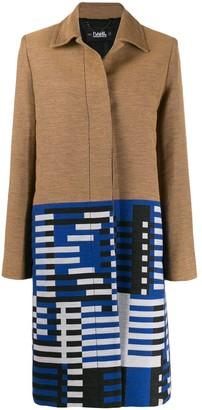 Karl Lagerfeld Paris Jacquard Pattern Coat