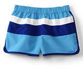 Classic Girls Swim Shorts-Fuchsia Berry Dots