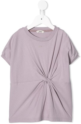 Fith short sleeve knot-detail T-shirt