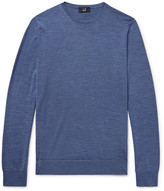Dunhill Mélange Wool Sweater - Storm blue