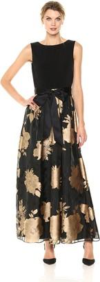 Ellen Tracy Women's Floral Burnout Gown