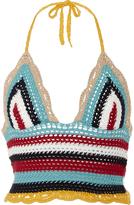 RED Valentino Multicolored Crochet Top