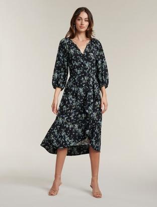 Ever New Maya Frill Wrap Midi Dress