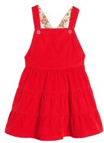 Girl's Mini Boden Twirly Corduroy Overall Dress