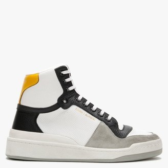 Saint Laurent 24MM White High Top Trainers