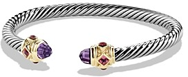 David Yurman Renaissance Bracelet with Amethyst, Pink Tourmaline, Rhodalite Garnet in 14K Gold