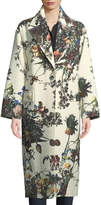 ADAM by Adam Lippes Floral-Print Cocoon Coat