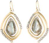 Alexis Bittar Crystal Encrusted Spiral Earrings