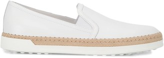 Tod's Espadrille-Midsole Slip-On Shoes